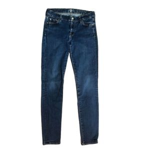 7 For all Mankind The Skinny Denim Jeans Size 28